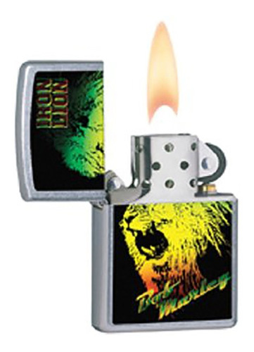 ¡ zippo stamp bob marley iron lion green/yellow/red 28844 !!
