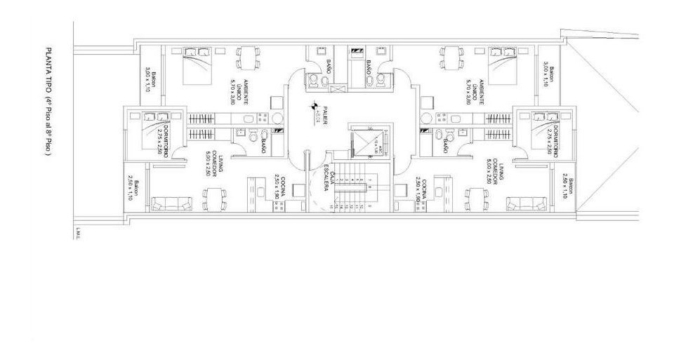 0  1 dormitorio | centro