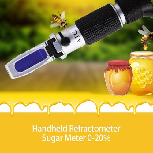 0-20% handheld fruta azúcar brix refractómetro dulzura metro