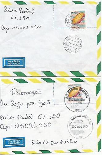 002 - lote c/12 envelopes brasil circulados - diferentes