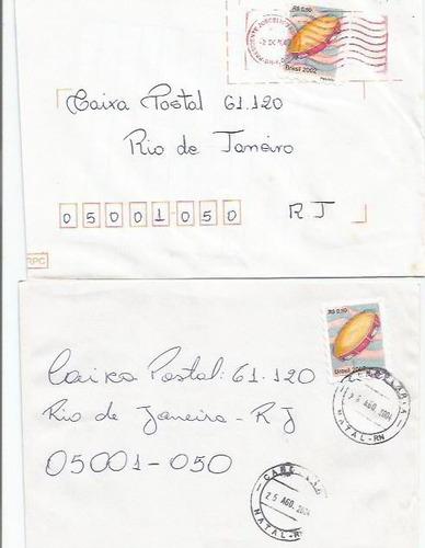 004 - lote c/12 envelopes brasil circulados - diferentes