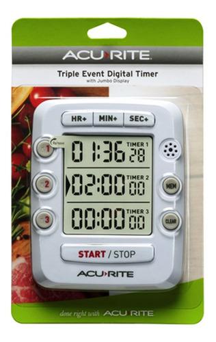 00482, triple evento digital temporizador de cocina con v