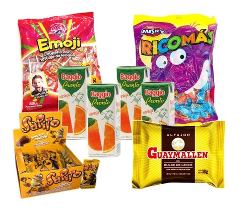 005 - combo golosinas cumpleaños - lollipop - 50 chicos