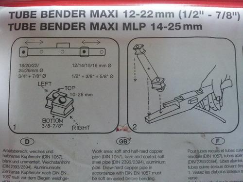 007 dobladora - curvadora manual rothenberger nueva!!