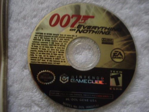 007 everything nothing nintendo gamecube y wii
