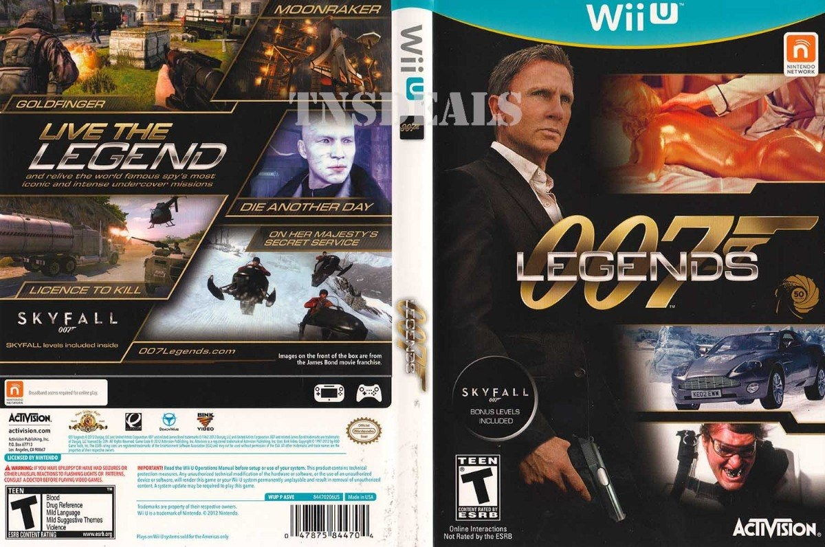 007 Legends C/ Skyfall 007 Bonus - Wii U - Midia Fisica