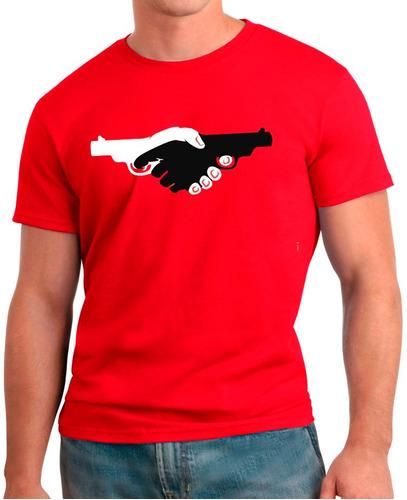 008- camisetas violencia mao dupla