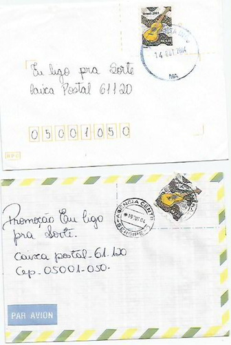 009 - lote c/12 envelopes brasil circulados - diferentes