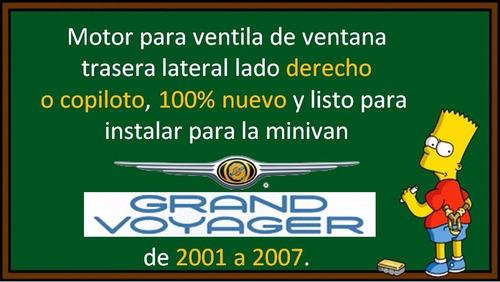 01-07 grand voyager motor electrico ventila lateral derecho