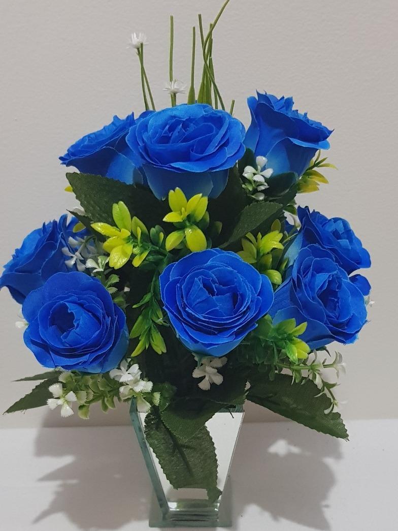 01 Arranjo Flores Artificiais Sem O Vaso - R$ 25,90 em Mercado Livre