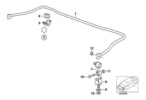 01 bieleta estabilizadora diant bmw e36 318 323 325 328 orig