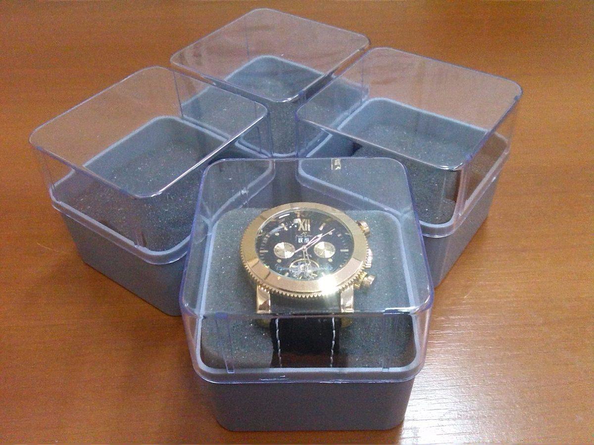 282a33cd33b 01 caixa acrílico + espuma - estojo plástico p  relógio. Carregando zoom.
