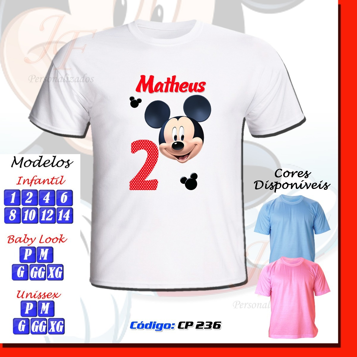 f7520679c 01 camiseta adulto infantil personalizada mickey mouse. Carregando zoom.