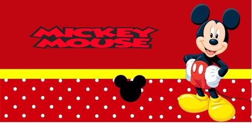 01 cofrinho de papelão 6x10 mickey c/ nome e idade