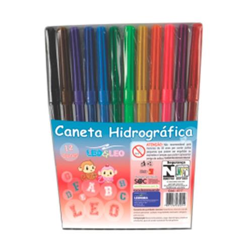 01 estojo de canetinha hidrocor - 12 cores - atacado $ 3,89