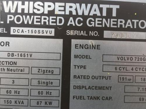 01) generador de electricidad y emergencia 120 kw mq power