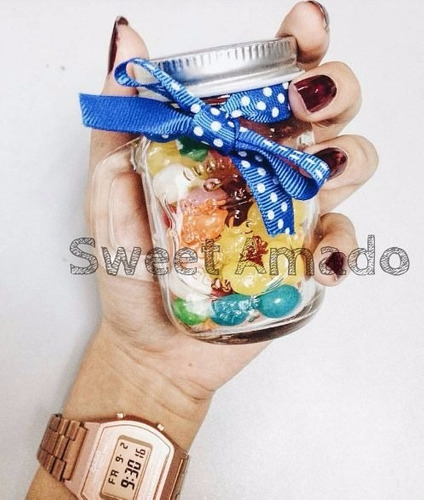 .01 mini caneca vidro mason jar de 130ml lembrancinha
