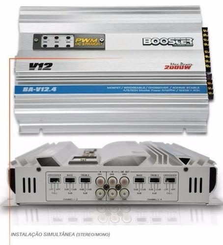 01 modulo amplificador booster 4ch ba-v12 stereo 2000watts