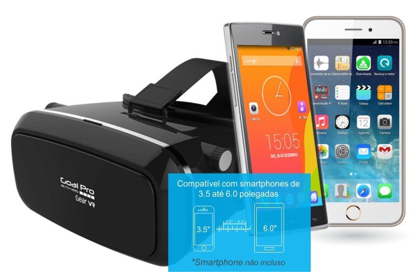01 Óculos 3d Realidade Virtual Gear Vr S fone Preto - R  88,95 em ... 9bd9e41da2