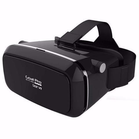 01 óculos 3d realidade virtual goal pro gear vr s/fone preto