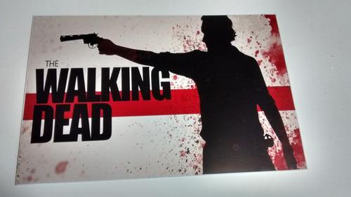 01 placa de pvc walking dead