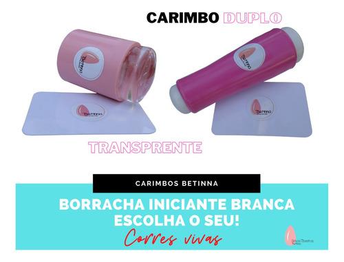 01 placas carimbos unhas + carimbo + esmalte + brinde kit01
