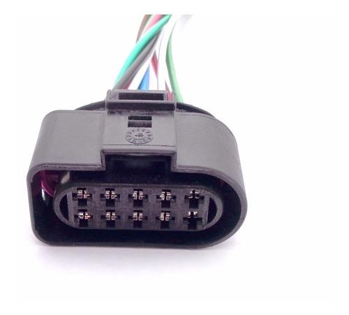 01 plug conector chicote 16 cm do farol gm agile 2010 a 2015
