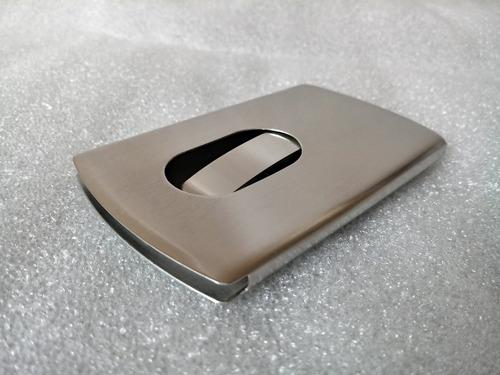 01 porta cartão aço escovado crédit visita disp  envio grats