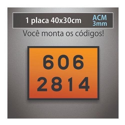 01 unid placa rótulo risco e onu - 40x30cm nbr 7500 acm 3mm