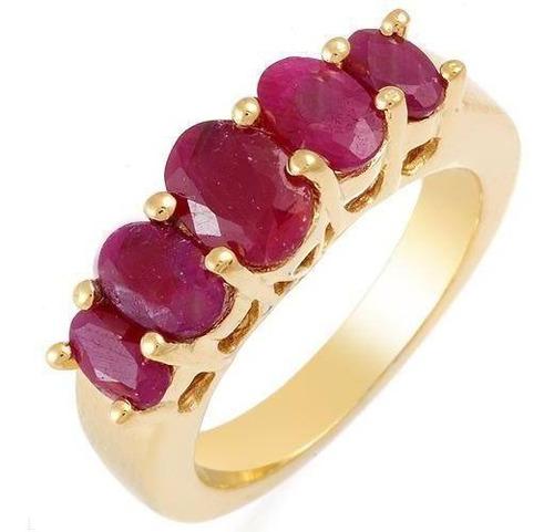 011-17mm. anillo plata 925 con rubies algo mas osc que foto