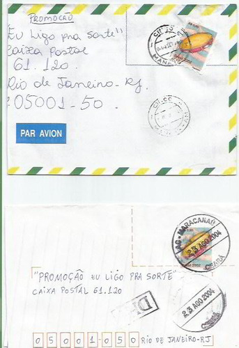011 - lote c/12 envelopes circulados brasil - diferentes