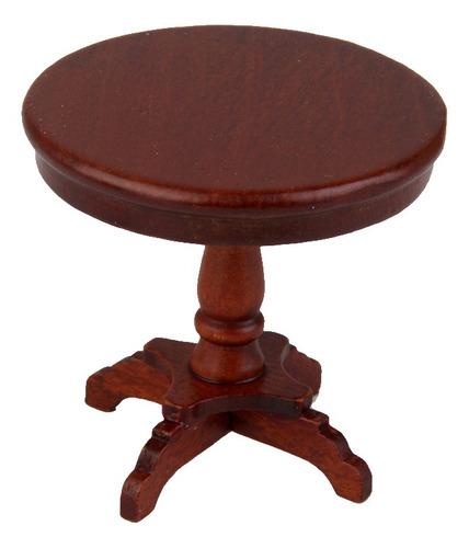 01:12 casa de muñecas muebles mesa redonda juguete de