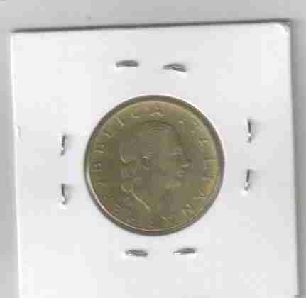 01140 itália - moeda $200 lire 1981 24mm