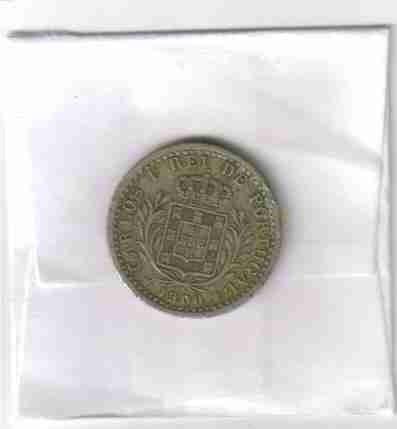01185 portugal - moeda $100 réis 1900 22mm
