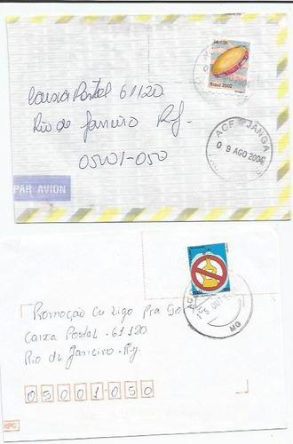 015 - lote c/12 envelopes brasil circulados - diferentes