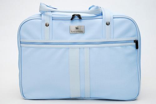 0160 - mala maternidade bipartida candy azul