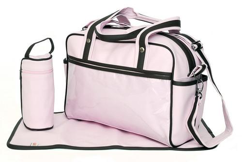0174 bolsa maternidade  c/trocador e porta mamadeira térmico