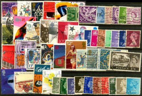 0189 inglaterra lotecito 50 sellos usados modernos 02