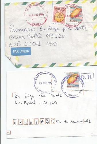 019 - lote c/12 envelopes brasil circulados - diferentes