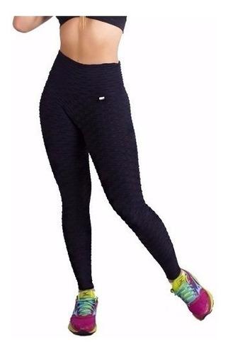 01kit 10 legging fitness em tecido bolha ginástica academia