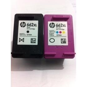 02  Cartucho Hp 662xl Preto +  01 Cartucho 662 Xl Color