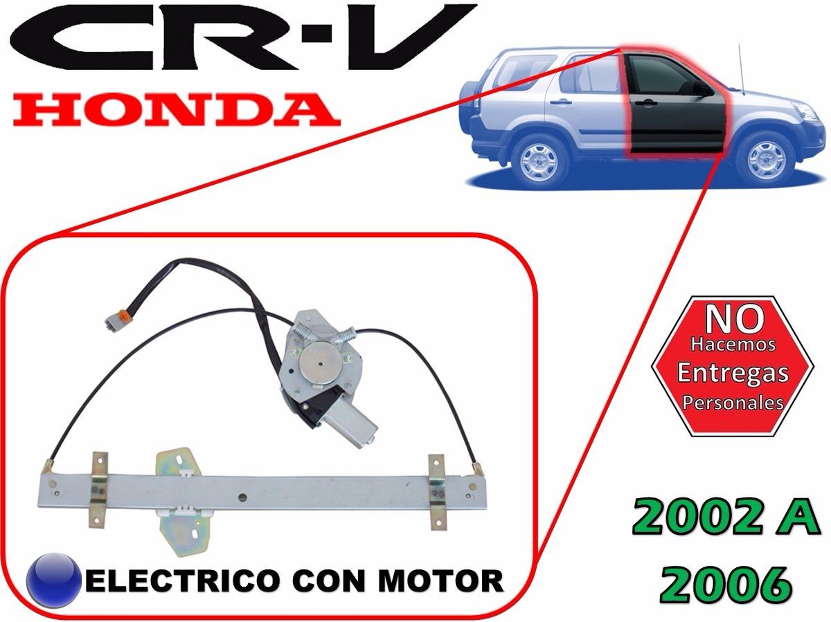 02-06 Honda Cr-v Elevador Electrico Con Motor Delantero Der ...