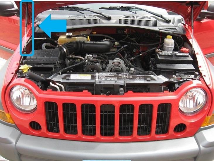 02 07 Jeep Liberty Piston Hidraulico Para Cofre Lado