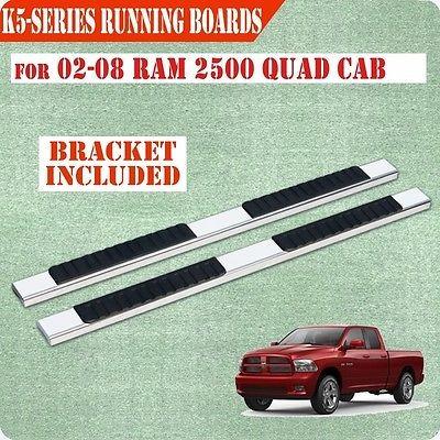 02-08 dodge ram 1500 quad cab 5 pulgadas nerf bar paso
