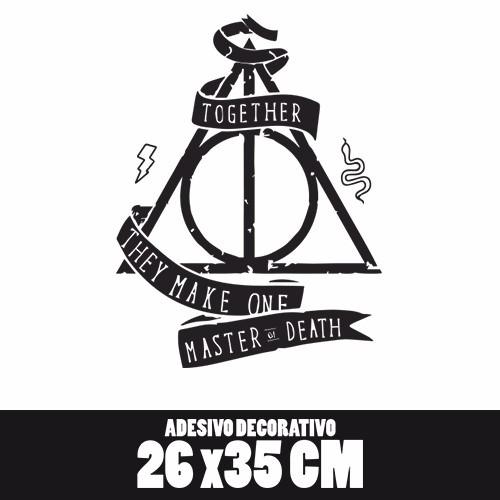 02 Adesivos Harry Potter Reliquias Da Morte + Frete