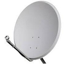 02 antena ku 60cm completo + cabo + fixação + lnb universal
