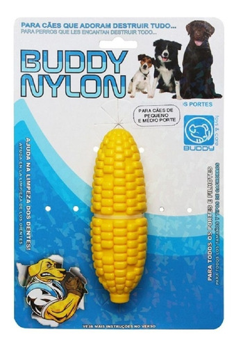 02 brinquedos morder cães nylon buddy toys  cenoura + milho