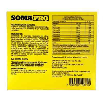 02 caixas de somapro iridium labs 60 comprimidos cada