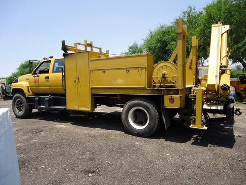 02) camion doble cabina gmc con grua de 3.8 ton 1993