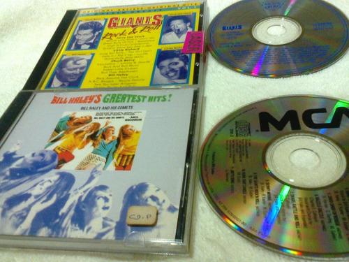 02 cds giants of rock & roll - bill halleys greatest hits